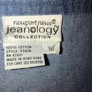 Vintage Tops - Newport News Fine Denim Long Tunic , size 16